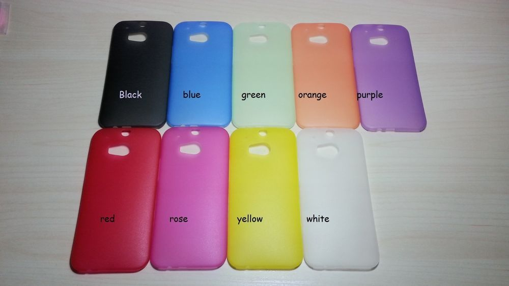 new arrival 69731 b47d6 For HTC One M8 Assorted Color Super Slim 0.3 mm Hard Plastic Case ...