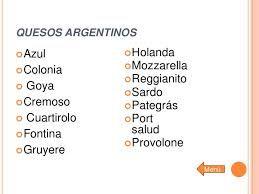 Resultado de imagen para Quesos Argentinos
