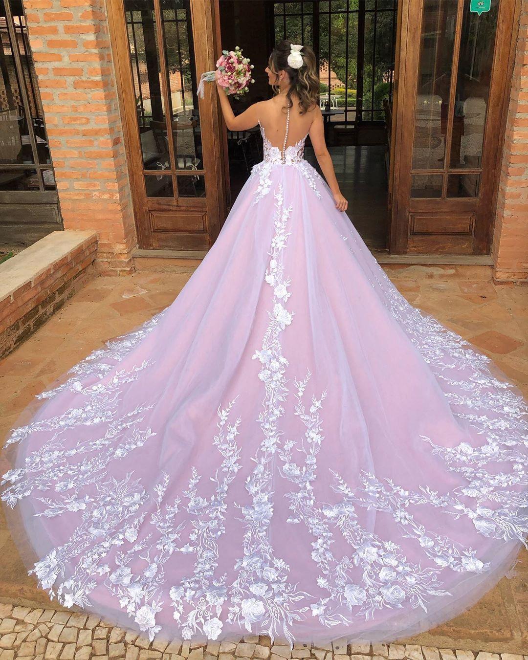 Elegante Brautkleider Mit Spitze  A Linie Hochzeitskleider