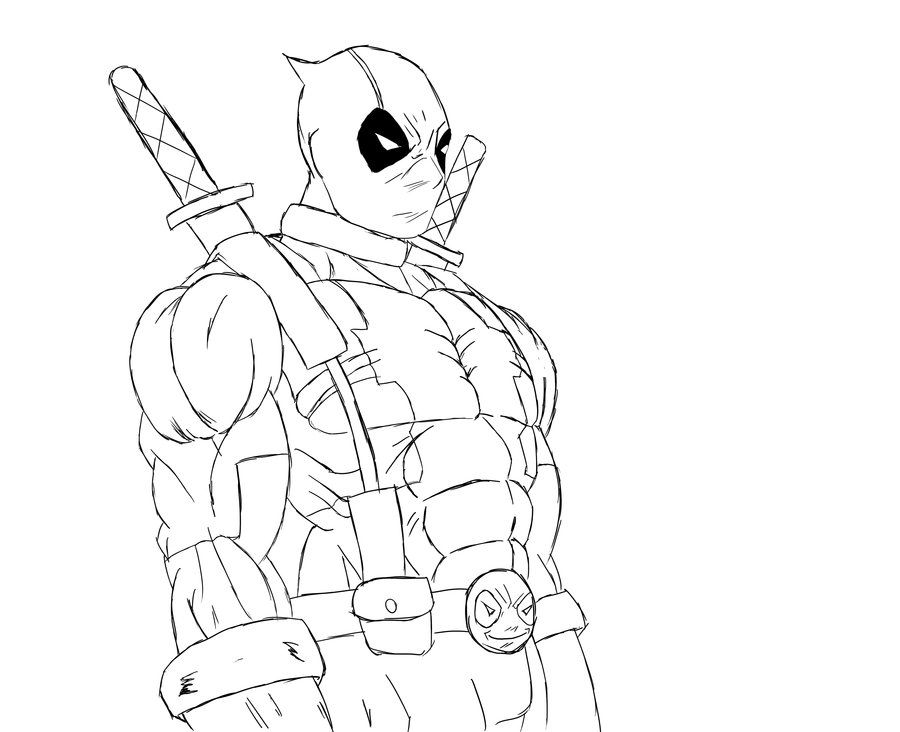 Deadpool Coloring Pages   coloring pages   Pinterest   Deadpool
