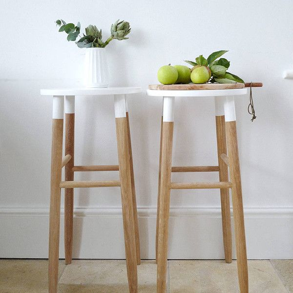 Lilac Coast Natural And White Wooden Bar Stool 160 Liked On