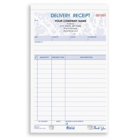 DRCC-642, Delivery Receipt Shipping / Receiving Forms Pinterest - Delivery Receipt Form