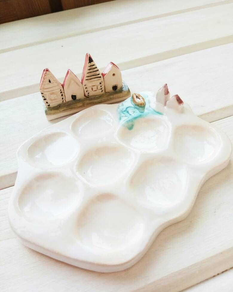 Ceramic Paint Mixing Tray