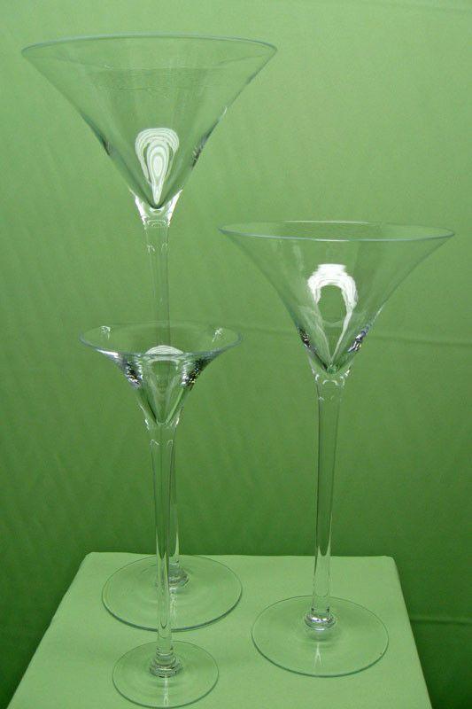 Jumbo Martini Glass Vase Wedding Centerpiece Birthday 40th