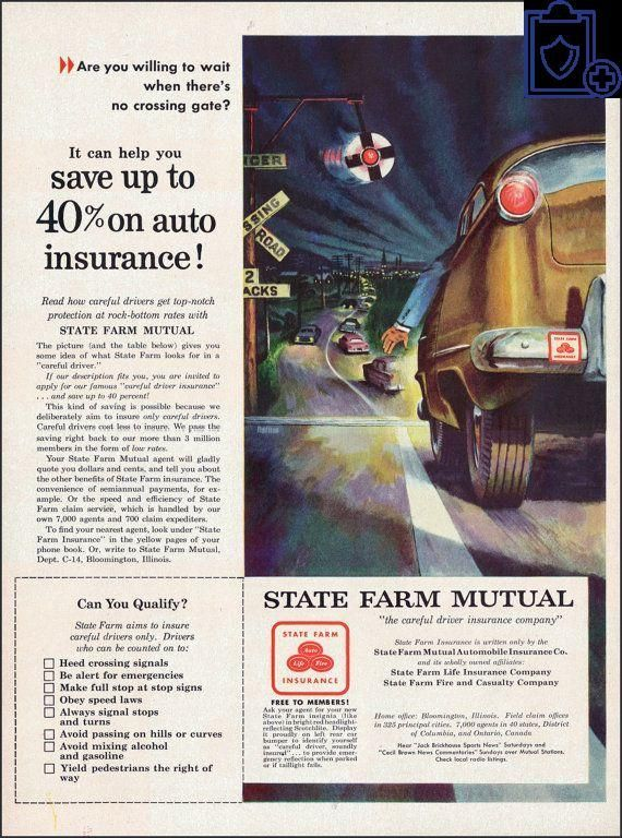Most recent No Cost 1954 State Farm Mutual Insurance Ad