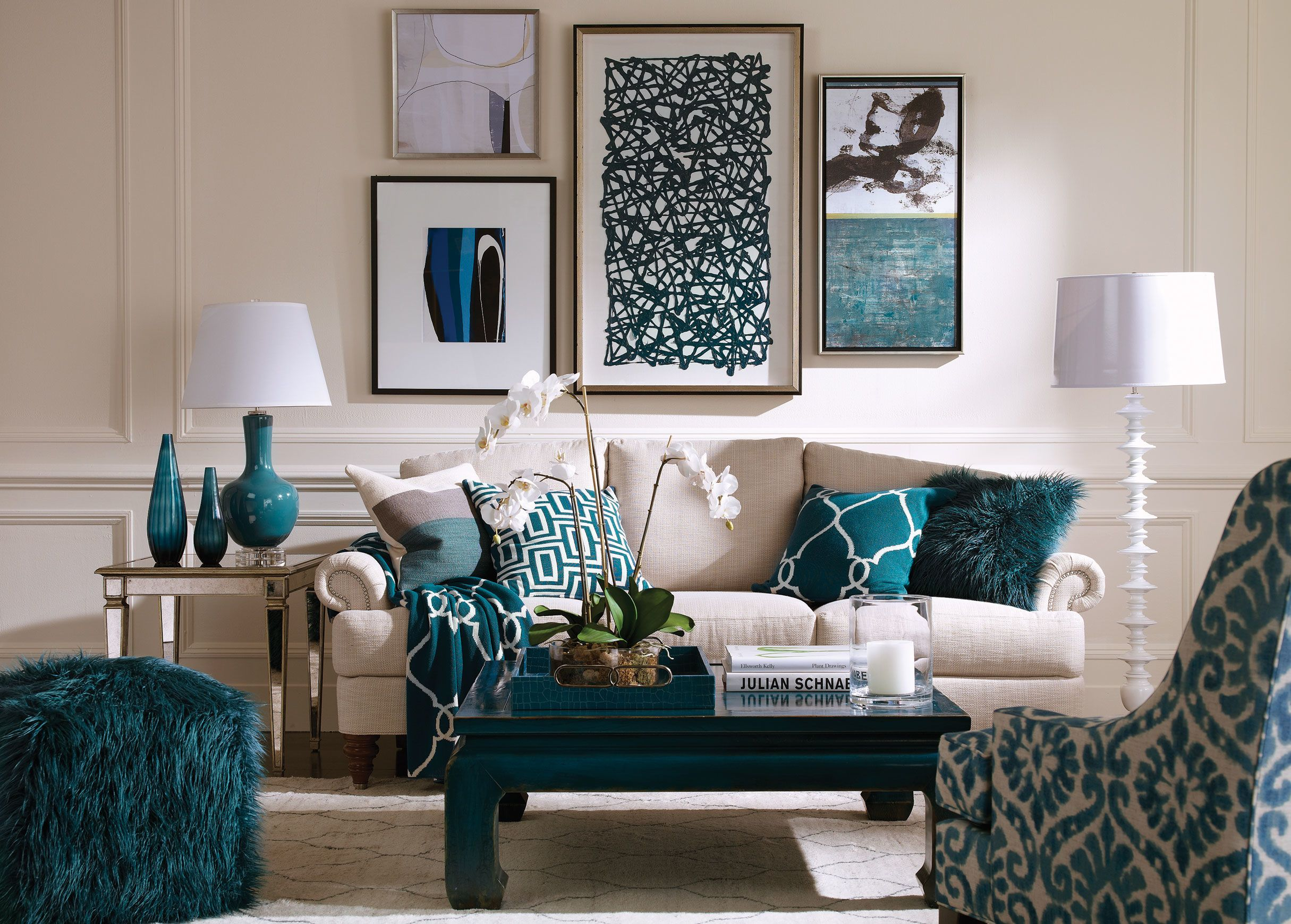 Teal Faux Fur Pillow Living room turquoise, Living room