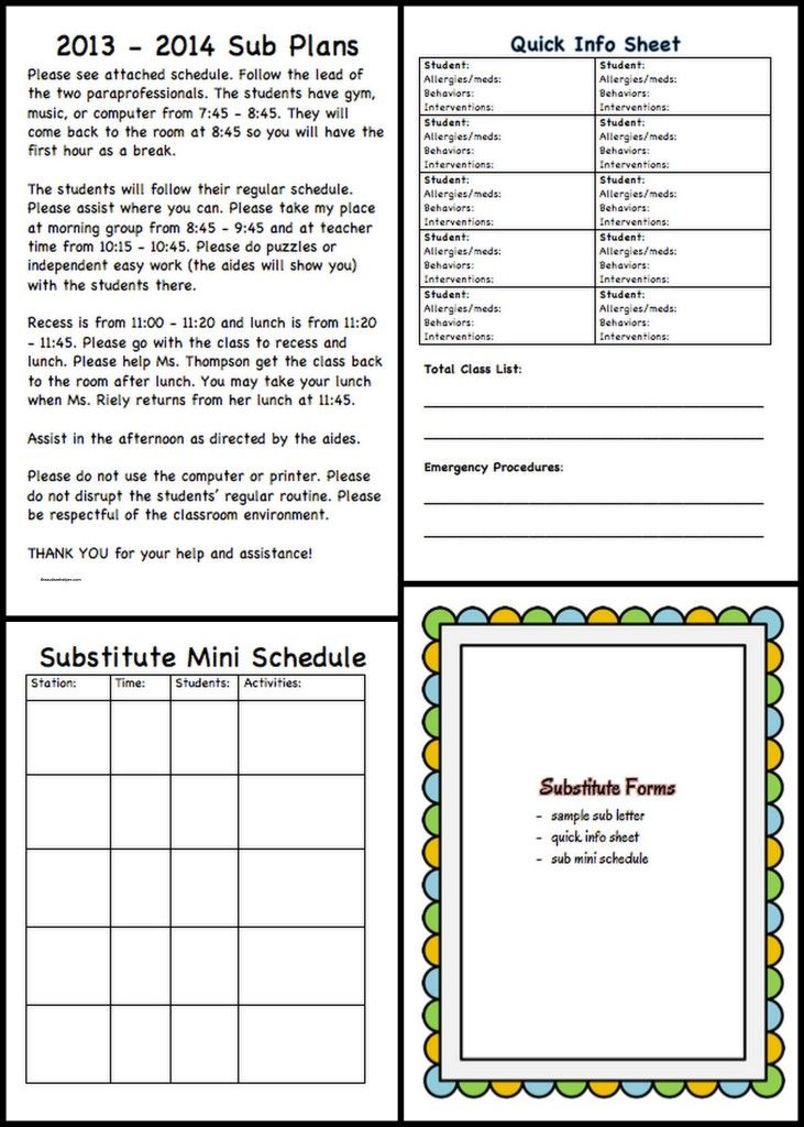 Special Education Must-Have Forms and Templates Pinterest Data