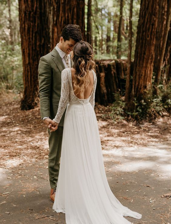 Photo of One Long Adventure: A Rustic Wedding in the Redwoods with a Copper + Peach Palette – Alex Redden