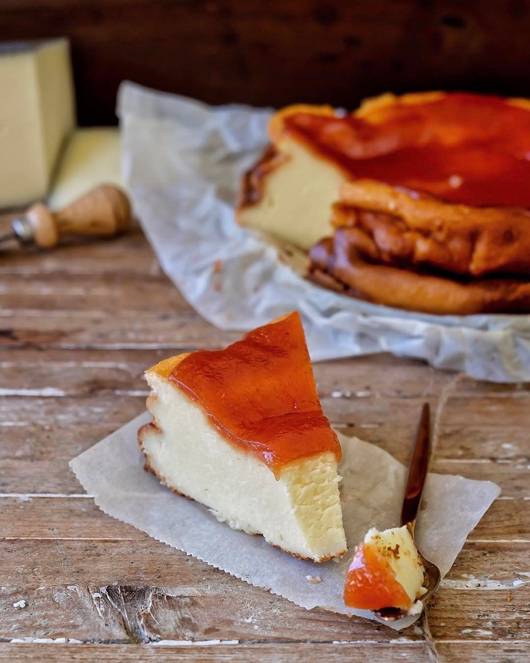 Cheesecake De Queso Manchego Videoreceta En Mi Bio Grab The Videorecipe In My Bio Quince Recipes Sweet And Salty Desserts