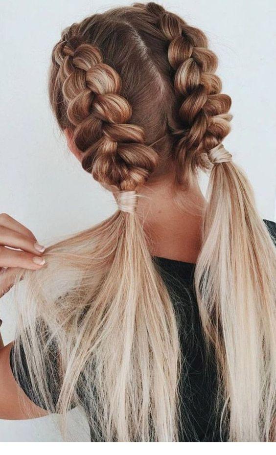 Braided Hairstyle Pigtail Braids Miladies Net Geflochtene Frisuren Unordentliche Frisur Frisuren Mit Zopf