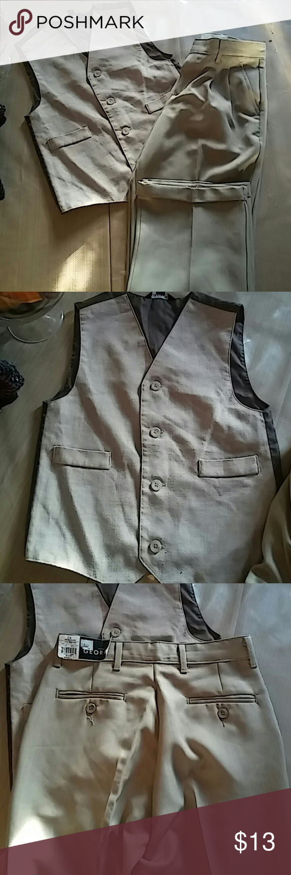 Size8 dressy shirt n pants Pants are really nice to go out for boys new n top vest used once. Other