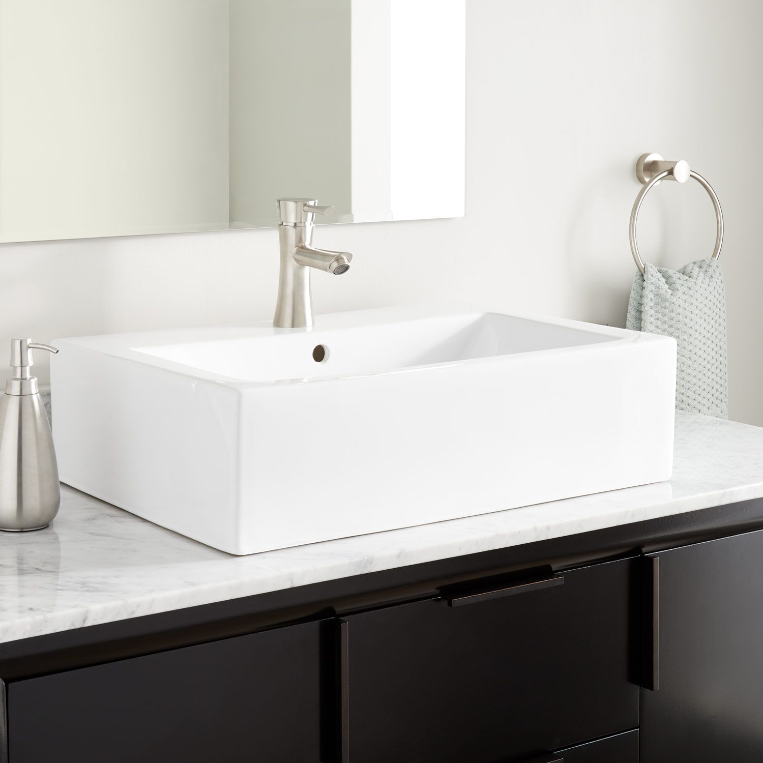 Grigory Rectangular Porcelain Vessel Sink Signature Hardware In