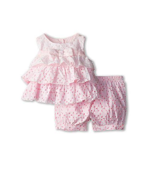Biscotti Eyelet Blush Top And Bloomer Set Infant Bebe