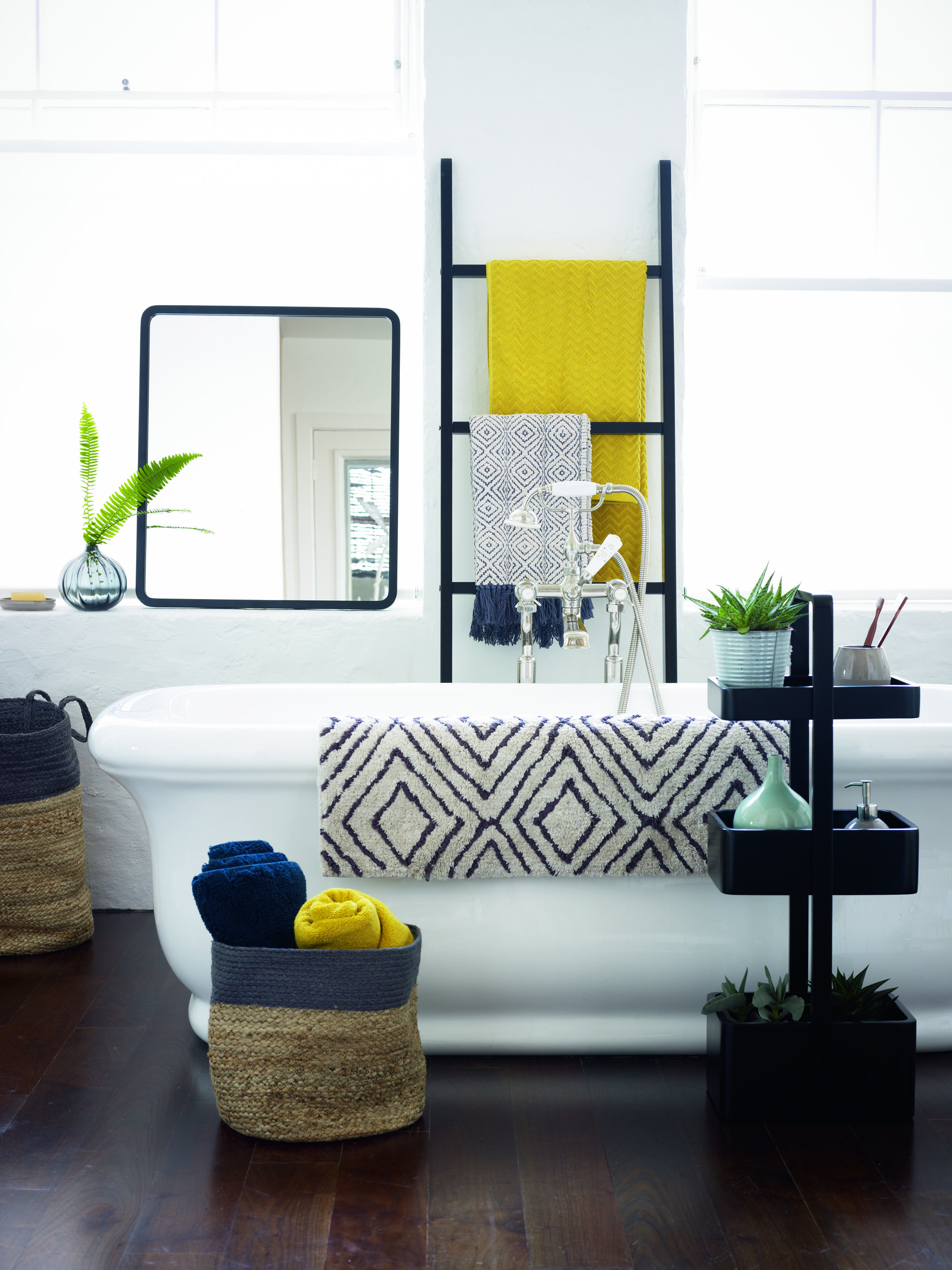 White bathroom? Add a little more with your accessories with bright ...