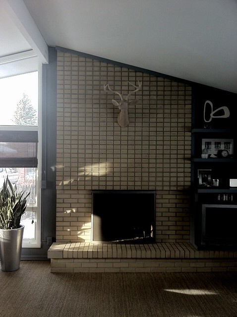 Retro Fireplace In 2020 Fireplace Fireplace Design Mid Century