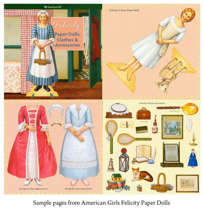 American Girl Printable Paper Dolls  American Girl Felicity Paper