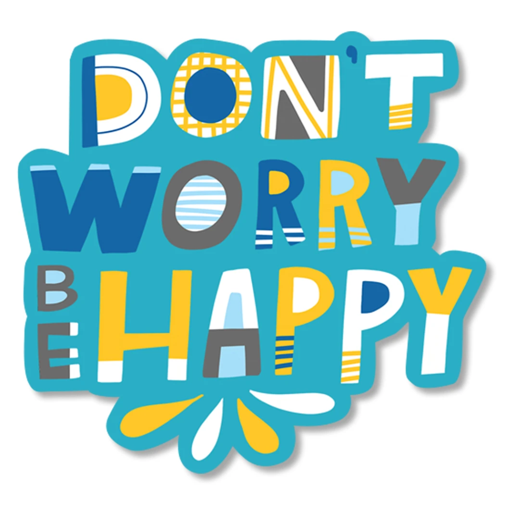 Don't Worry Be Happy Diecut Sticker Vicky Barone in 2020