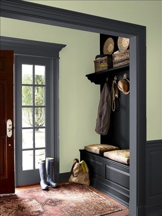 Dark Grey Colonial House Exterior