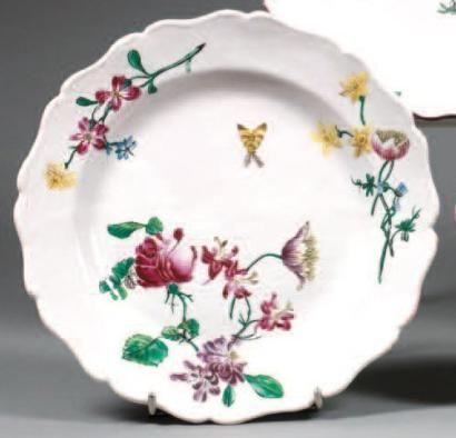 Marseille manufacture de la veuve perrin assiette ronde for Decoration sur porcelaine