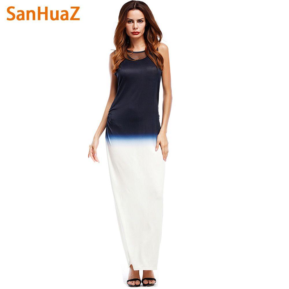 >> Click to Buy << SanHuaZ Summer 2017 Women Printed Dresses Casual Party Beach Boho O-neck Sleeveless Sexy Slim Women's Long Dresses Vestidos #Affiliate