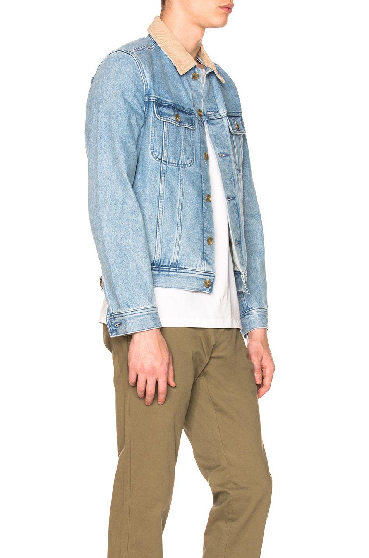 Image 2 of A.P.C. Howl Denim Jacket in Indigo Delave