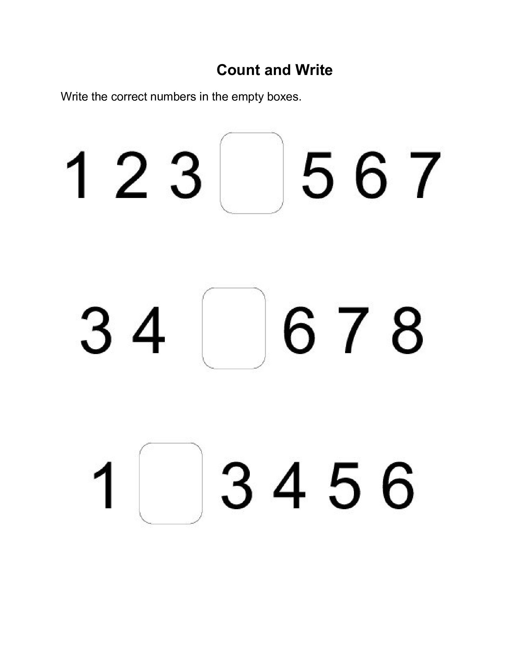 Numbers Kindergarten By Liliya Mehaya On Number Worksheets