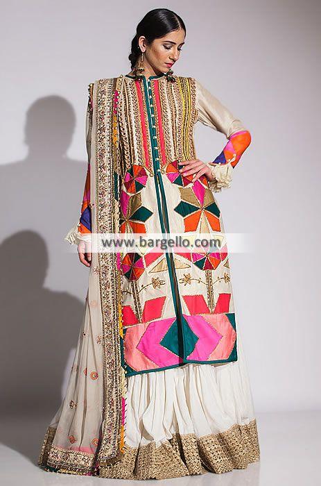 ced1d0539b Fahad Hussayn Bridal Dresses Bridal Sharara Collection UK USA Canada  Australia in 2019 | Pakistani Bridal Dress Designer Wedding Lehenga Sharara  | Dresses, ...