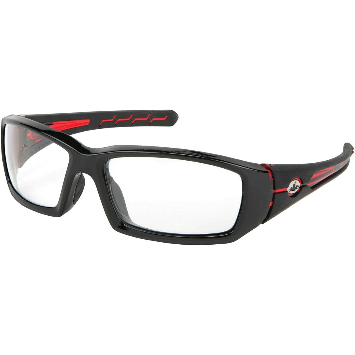 245548965d04a U.S. Safety PN1230PF Pantera PN2 Safety Glasses - Black Red Frame - Clear  MAX6 Anti-Fog Lens - U.S. Safety glasses are designed to provide  solution-based ...