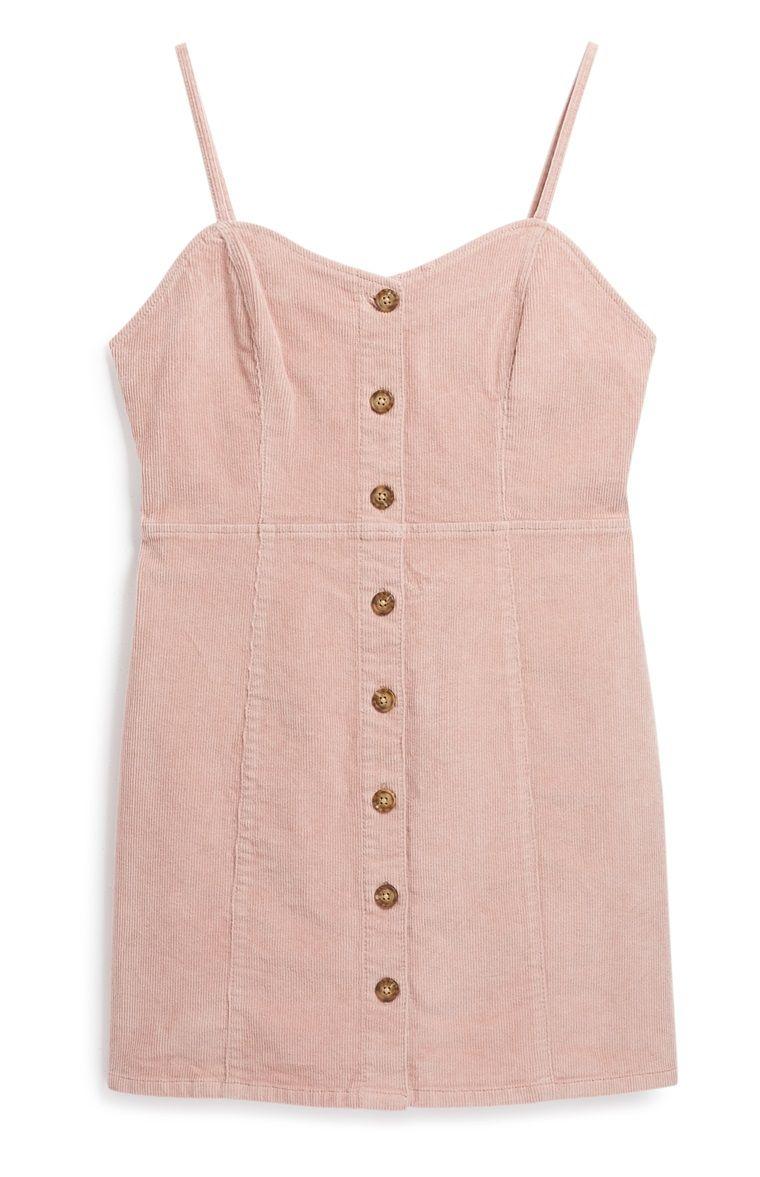 Primark - Pink Corduroy Dress | Corduroy dress, Dresses ...