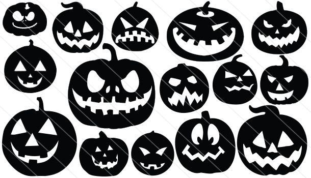Halloween Pumpkin Vector.Pumpkin Silhouette Vector 15 Silhouette Cameo Halloween