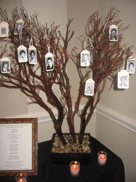 Memory Table Ideas liga svikss Five Class Reunion Memorial Ideas