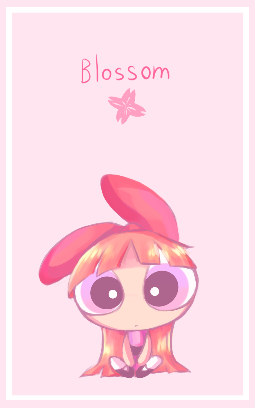 Blossom Ppg Fanart By Yunreru Powerpuff Girls Wallpaper