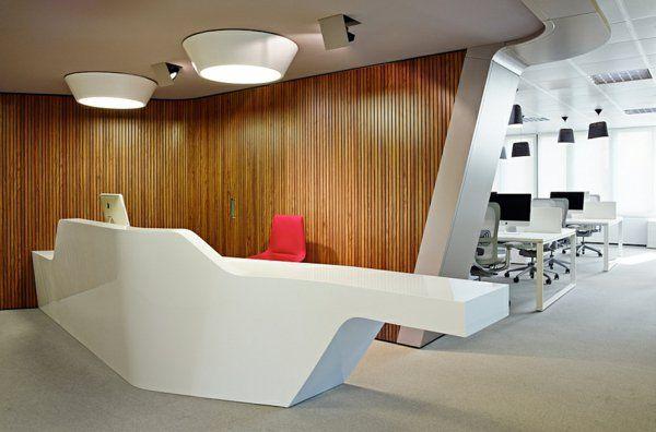 Modernes Design Afrikanische Architektur Büro Tisch Holz Wand Idee