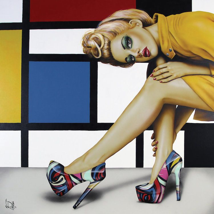 Shoes Shoes Never Enough Shoes Canvas Wall Art By Scott Rohlfs Icanvas Art Juxtapoz Fine Art Collection