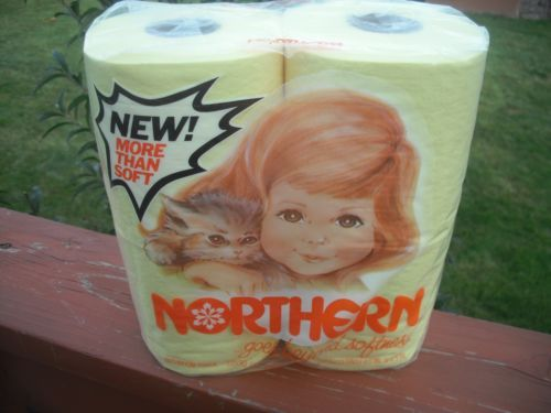 Vintage Quilted Northern Toilet Bathroom Tissue Paper YELLOW 1975 Super Rare