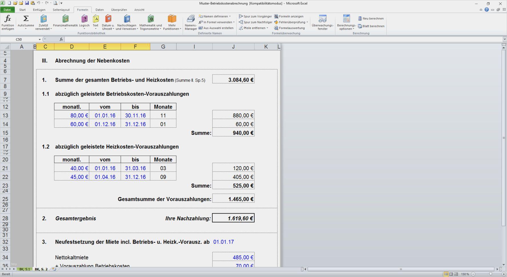 34 Elegant Excel Vorlage Betriebskostenabrechnung Bilder In 2020 Excel Vorlage Vorlagen Betriebskostenabrechnung