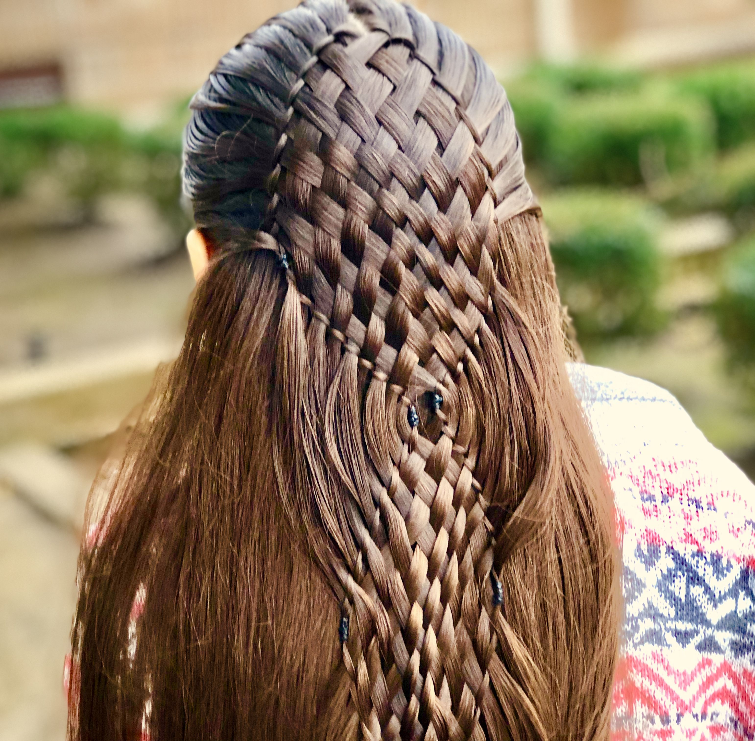 Church hairstyle for today. I saw this on Pinterest and wanted to