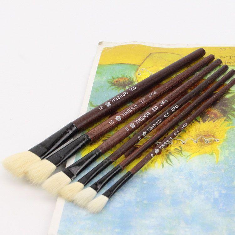 Wool Sheep Flat Tail Oil Paint Brush Kids Water Color Brush