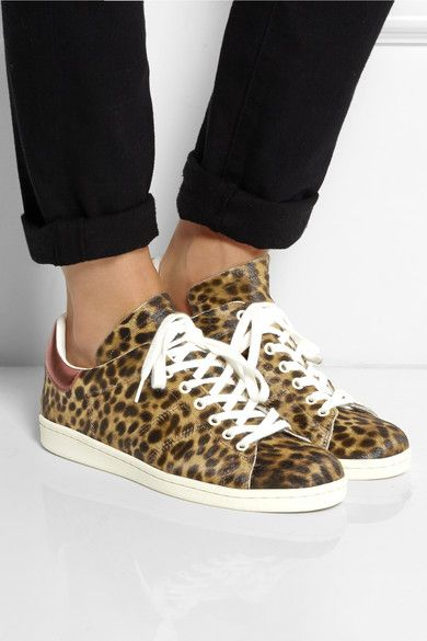 Isabel Marant   Étoile Bart leopard-print calf hair sneakers    NET-A-PORTER.COM 8901bf970c75