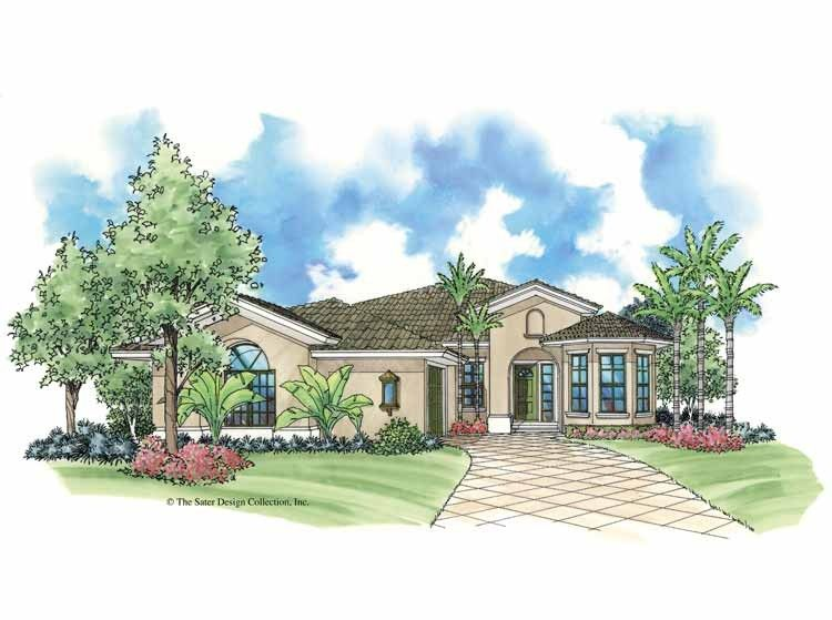 Mediterranean House Plan with 1404 Square Feet and 2 Bedrooms from