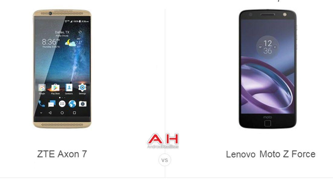 Phone Comparisons: ZTE Axon 7 vs Lenovo Moto Z Force #android #google #smartphones