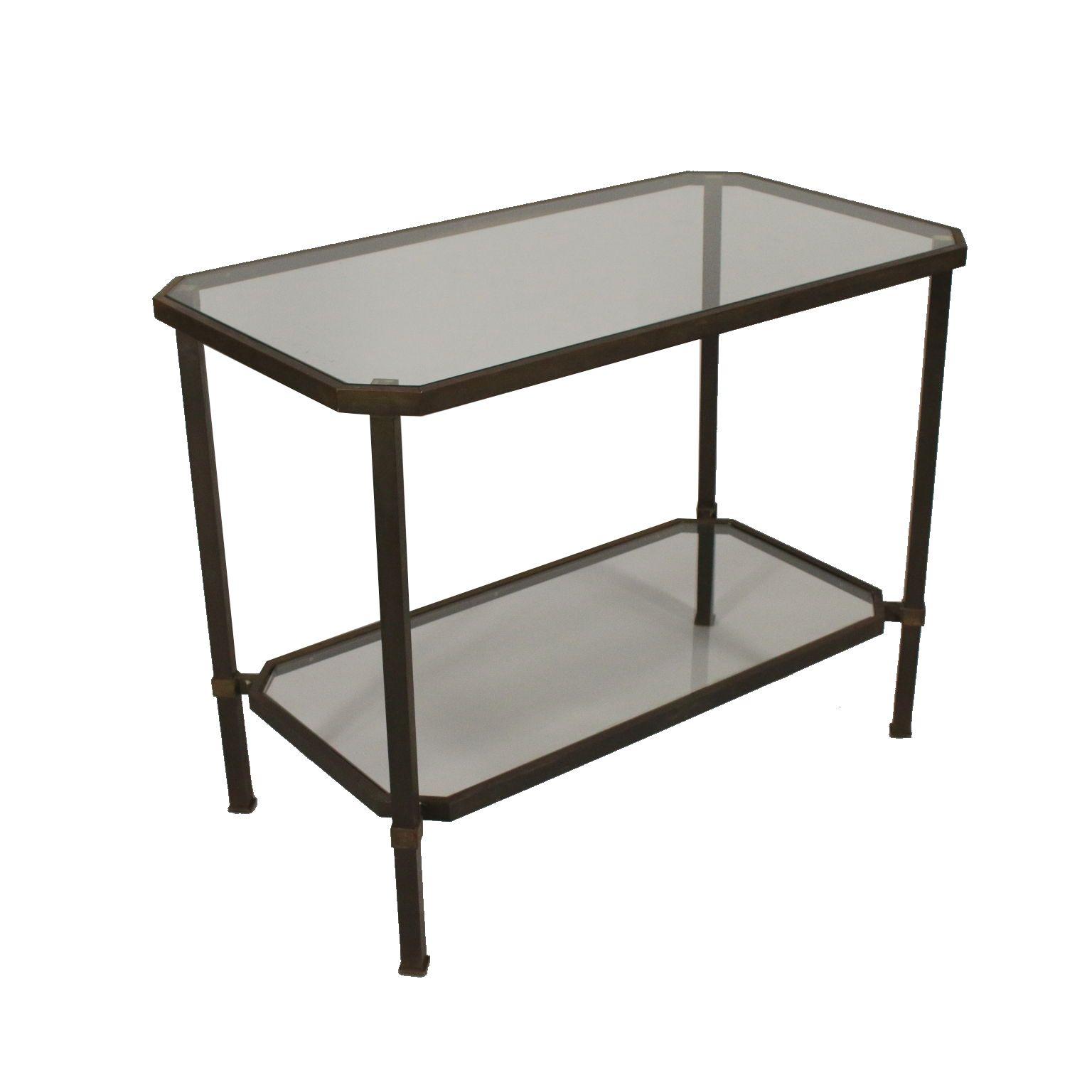 Petite Table Laiton Verre Vintage Italie Annees 60 Table Basse Table Basse En Laiton Table Basse Metal