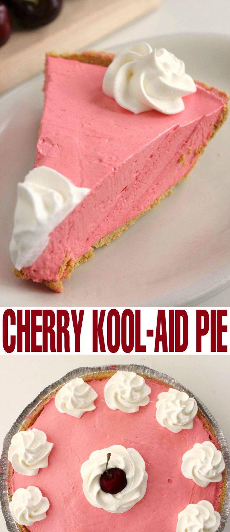 Cherry Kool Aid Pie Recipe Dessert Recipes Easy Desserts Kool Aid Pie Recipe