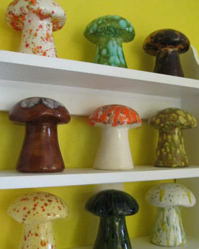 ceramic mushroom collection mushrooms pinterest keramik. Black Bedroom Furniture Sets. Home Design Ideas