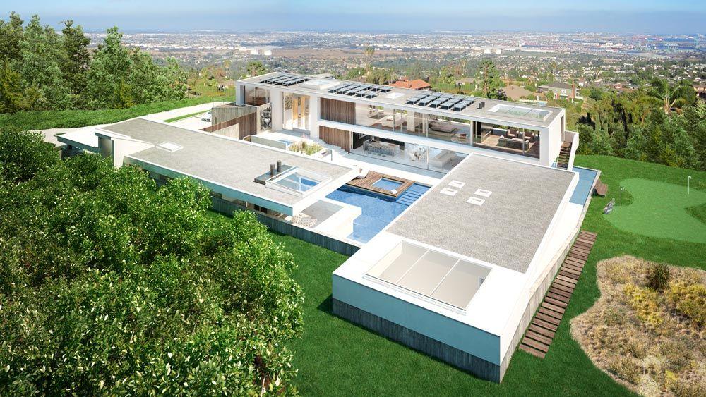 planos de casas lujosas 3d