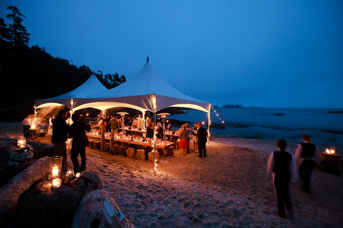 Wedding On Shell Beach In Tofino BC At The Wickaninnish