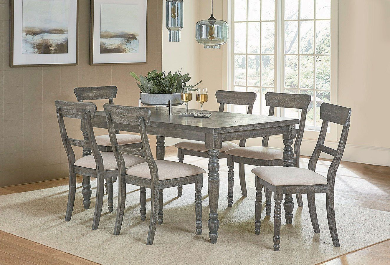 Muses Leg Dining Room Set W Ladderback Chairs Dining Table In