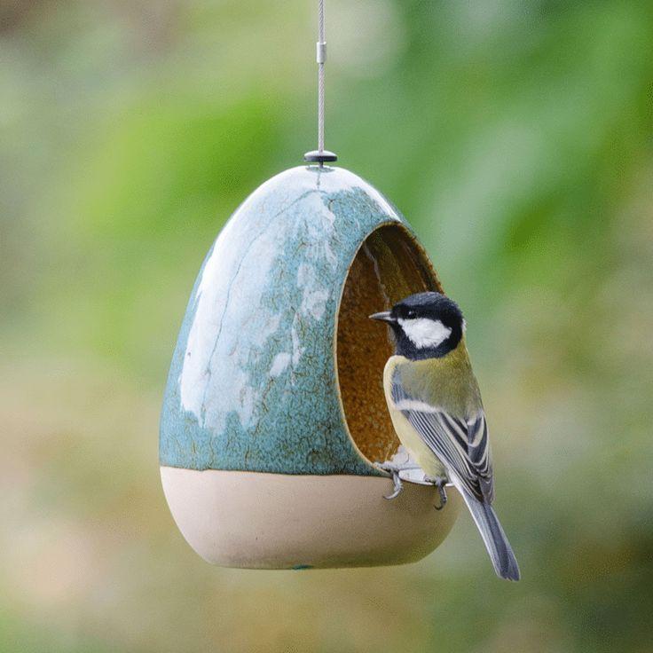Wasserschale für Vögel: ein Geschenk, mit dem die Vögel sich freuen werden;) ... - Makaron #ceramicart