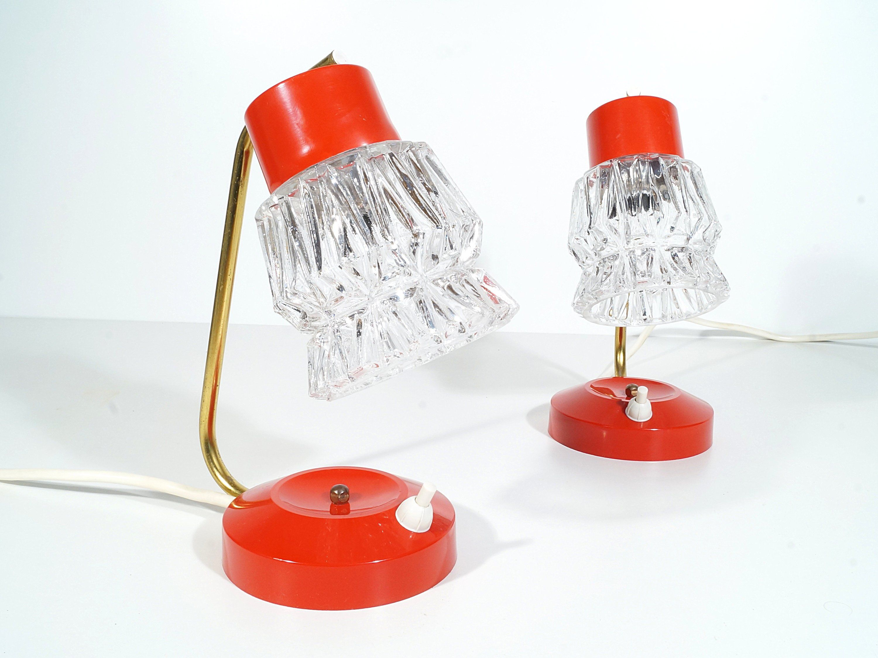Nachttischlampe Rot Bedside Lamps Pair Red 70s My Favourite Lamps Nachttischlampe