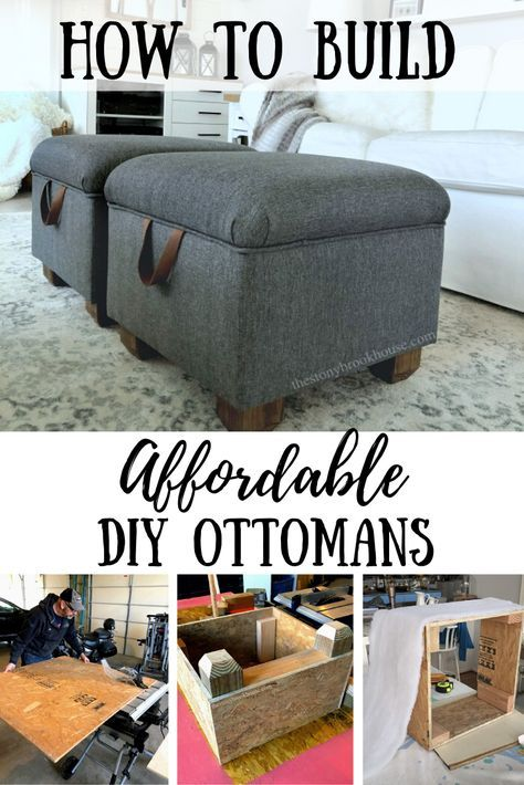 Photo of Affordable DIY Ottomans